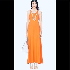 Ralph Lauren black label orange maxi dress new